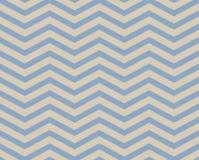 Fondo strutturato del modello del tessuto di zigzag blu e beige di Chevron Immagine Stock