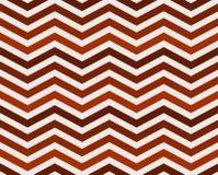 Fondo strutturato del tessuto di zigzag arancio Fotografia Stock