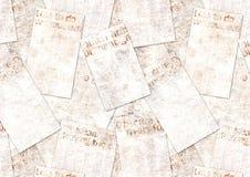 Fondo strutturato del vecchio collage d'annata di lerciume dei giornali fotografie stock libere da diritti