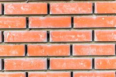 Fondo strutturato del vecchio muro di mattoni rustico marrone-rosso Immagine Stock
