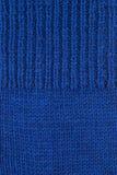 Fondo strutturato della lana blu Fotografia Stock Libera da Diritti
