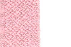 Fondo strutturato della lana di Rosa Fotografie Stock