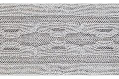 Fondo strutturato della lana grigia Fotografia Stock
