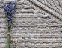 Fondo strutturato della lana nello stile di Hygge fotografia stock libera da diritti