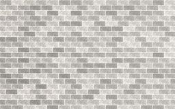 Fondo strutturato della parete del materiale grigio chiaro e bianco del mattone retro illustrazione di stock