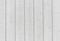 Fondo strutturato della parete di legno bianca Immagini Stock