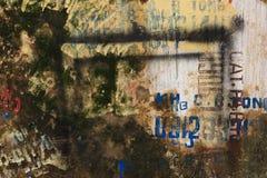 Fondo strutturato della parete di lerciume con i graffiti Fotografia Stock Libera da Diritti