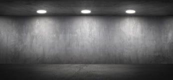 Fondo strutturato della parete della stanza concreta in bianco dell'ufficio fotografia stock libera da diritti