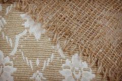 Fondo strutturato della tela di sacco Fotografia Stock