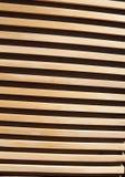 Fondo strutturato delle plance del primo piano a strisce di legno della parete Immagine Stock
