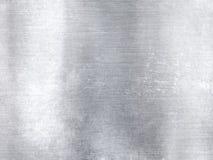 Fondo strutturato di ampio industriale di alluminio metallico d'argento Fotografie Stock