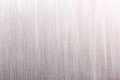 Fondo strutturato di di piastra metallica industriale grigio spazzolato Fotografia Stock