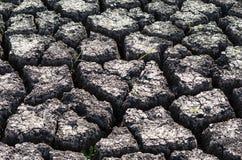 Fondo strutturato di superficie della Terra incrinata asciutta Fotografia Stock