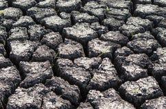 Fondo strutturato di superficie della Terra incrinata asciutta Fotografie Stock Libere da Diritti