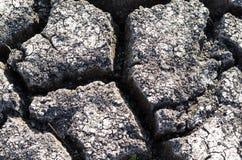 Fondo strutturato di superficie della Terra incrinata asciutta Fotografie Stock
