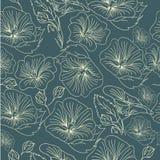 Fondo suave dibujado mano de la flor Fotografía de archivo libre de regalías
