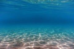 Fondo subacqueo sabbioso del fondo del mare fotografia stock libera da diritti