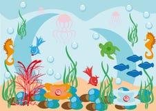 Fondo subacuático abstracto Libre Illustration
