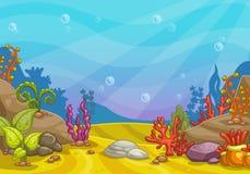 Fondo subacuático de la historieta libre illustration