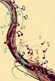 Fondo sucio abstracto de la nota de la música Fotografía de archivo