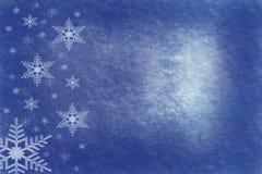 Fondo sucio azul polvoriento del copo de nieve stock de ilustración