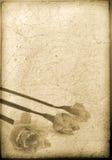 Fondo sucio con motivo de la flor Imagen de archivo