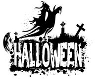 Fondo sucio de la silueta de Halloween Imagenes de archivo