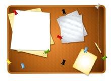 Fondo sucio del tablón de anuncios Foto de archivo libre de regalías
