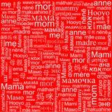 Fondo sulla festa della Mamma Fotografia Stock Libera da Diritti