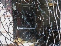 Fondo superficial de cristal quebrado Imágenes de archivo libres de regalías