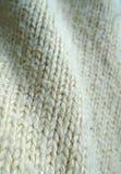 Fondo superficial de lana hecho punto del suéter fotografía de archivo
