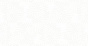 Fondo superficial geométrico mate blanco Líneas abstractas al azar movimiento colocado de las formas almacen de metraje de vídeo