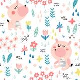 Fondo sveglio dei bambini con gli orsi royalty illustrazione gratis