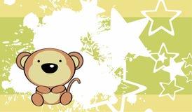 Fondo sveglio della scimmia del bambino Immagine Stock