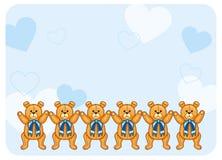 Fondo sveglio di colore con Teddy Bears Immagini Stock
