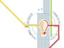 Fondo técnico del vector de la innovación stock de ilustración