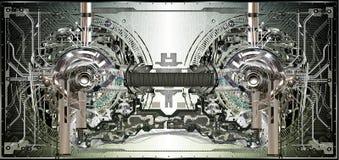 Fondo técnico electrónico Fotos de archivo libres de regalías