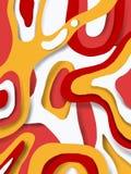 fondo tagliato di carta giallo rosso illustrazione di stock