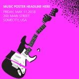 Fondo tagliuzzato di musica della chitarra Fotografie Stock