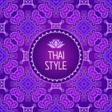 Fondo tailandés del arte Modelo inconsútil Foto de archivo libre de regalías