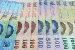 Fondo tailandés del dinero foto de archivo
