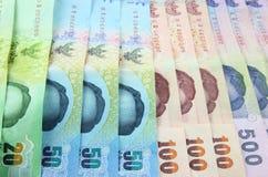 Fondo tailandés del dinero imágenes de archivo libres de regalías