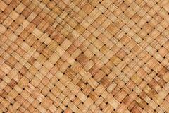 Fondo tailandese tradizionale della natura del modello di stile di handic marrone Fotografia Stock Libera da Diritti