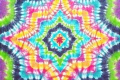 Fondo teñido lazo colorido del modelo fotografía de archivo
