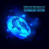 Fondo techno astratto per progettazione alta tecnologia futuristica - vettore Immagine Stock Libera da Diritti