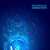 Fondo techno astratto per progettazione alta tecnologia futuristica - vettore Fotografia Stock