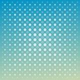 Fondo techno di verde blu dei punti di vettore astratto Fotografia Stock