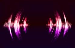 Fondo techno di vettore con la vibrazione sonora crcular royalty illustrazione gratis