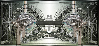 Fondo tecnicamente elettronico Fotografie Stock Libere da Diritti