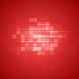 Fondo tecnico rosso dei quadrati Fotografie Stock Libere da Diritti